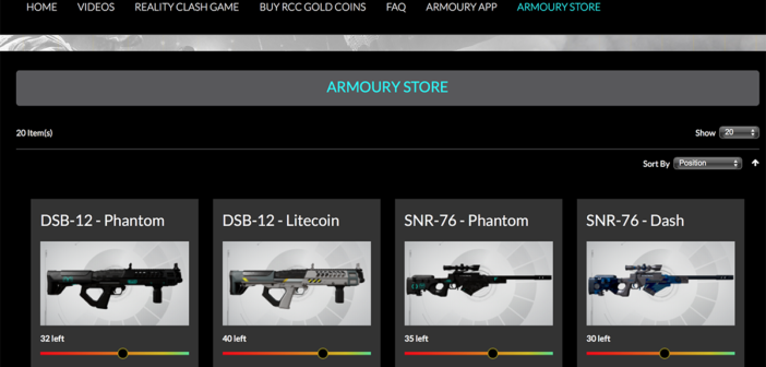 Reality Clash in-game cryptocurrency leaps 380% as armoury store opens for trading