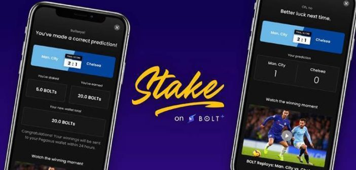 Users can now start staking BOLT blockchained tokens on upcoming Premier League matches