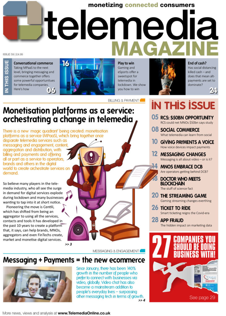 Telemedia Magazine Issue 59 front cover